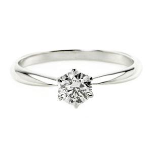 ダイヤモンド ブライダル リング プラチナ Pt900 0.3ct ダイヤ指輪 Dカラー SI2 Excellent EXハート&キューピット エクセレント 鑑定書付き 12.5号 - 拡大画像