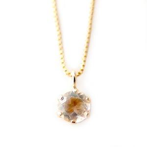 ネックレス ブルームーンストーン K18 イエローゴールド 6月 誕生石 一粒 シンプル プチネックレス ペンダント - 拡大画像