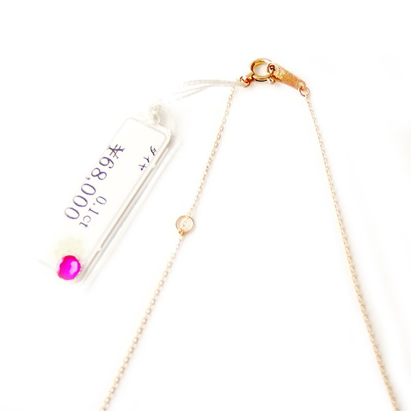 ダイヤモンド ネックレス K10 イエローゴールド 0.1ct ダンシングストーン ハート&キューピッド H&C Hカラー SIクラス 揺れるダイヤが輝きを増す 揺れる ダイヤ ペンダント 限定1点限り