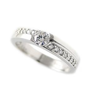 ダイヤモンド リング 0.3ct プラチナ Pt900 ハート&キューピット H&C Hカラー SIクラス 合計0.3カラットアップ ダイヤ 12号 指輪 - 拡大画像