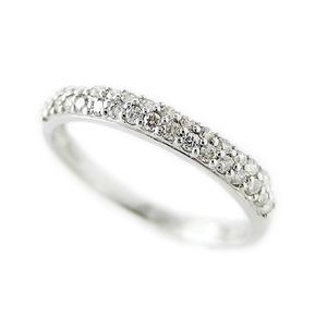 ダイヤモンド リング プラチナ Pt900 0.26ct ハーフエタニティ パヴェ 0.26カラット 11号 指輪 限定1点限り - 拡大画像