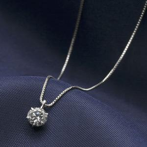ダイヤモンド ネックレス 一粒 プラチナ Pt900 0.3ct 6本爪 ダイヤネックレス 0.3カラット ペンダント UGL鑑別書付き