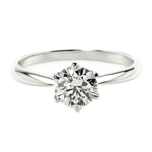 ダイヤモンド リング 一粒 1カラット 8号 プラチナPt900 Hカラー SI2クラス Excellent エクセレント ダイヤリング 指輪 大粒 1ct 鑑定書付き - 拡大画像