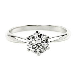ダイヤモンド リング 一粒 1カラット 14号 プラチナPt900 Hカラー SI2クラス Excellent エクセレント ダイヤリング 指輪 大粒 1ct 鑑定書付き - 拡大画像