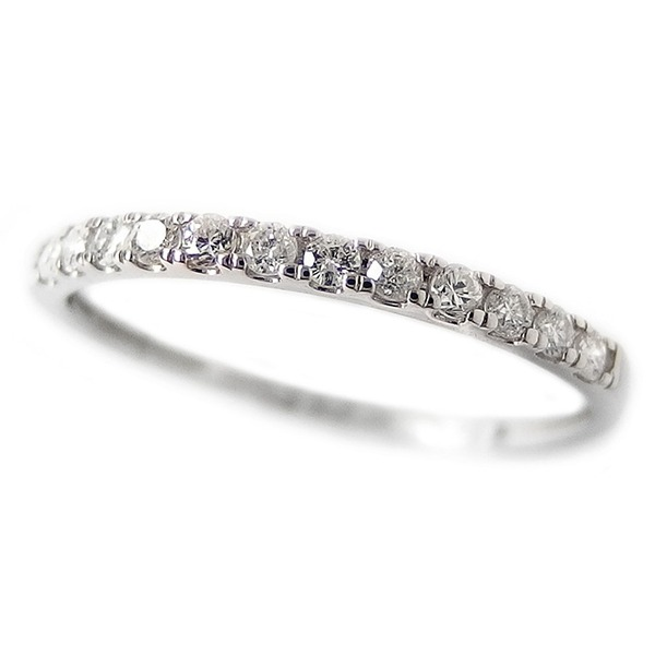 ダイヤモンド リング ハーフエタニティ 0.15ct 21号 プラチナ Pt950 0.15カラット シンプル 細身 エタニティリング 指輪