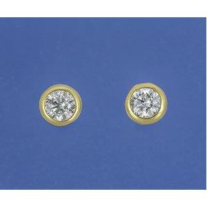 K18 ダイヤモンドピアス計0.2ctUPピアス フクリンタイプ - 拡大画像