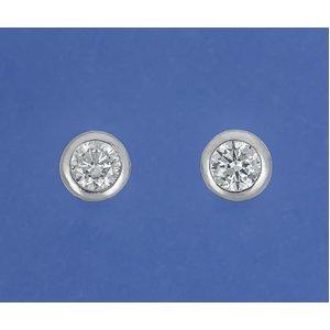 PT900 ダイヤモンドピアス計0.2ctUPピアス フクリンタイプ プラチナ - 拡大画像