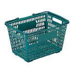 三甲(サンコー) サンショップカーゴ/買い物かご 【17L】 プラスチック製 把手付き グリーン(緑)