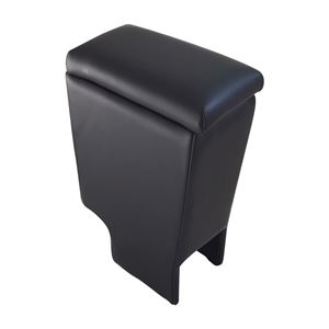 アームレスト ライトエース S402M/S412M ブラック 黒 レザー風 日本製 トヨタ コンソールボックス 収納 内装パーツ カー用品 肘掛け Azur - 拡大画像