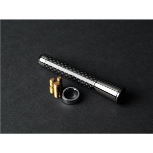 ブラックカーボン製ショートアンテナ 79mm セルシオ センチュリー ソアラ h01