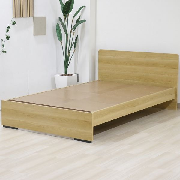 ベッド 日本製 工具 不要 組立 簡単 省スペース ベッド下 収納 シンプル モダン フラット 木製 パネル デザイン ナチュラル シングル ベッドフレームのみ