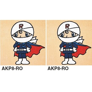 ピタッと吸着 アンパンマン パネルカーペット【防ダニ・洗える】 【日本製】 サイズ400mm×400mm AKP8-RO.AKP8-RO 2枚セット - 拡大画像