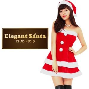 サンタ コスプレ セクシー 【Peach×Peach  エレガントサンタクロース チューブトップ Mサイズ】 サンタ 衣装   - 拡大画像