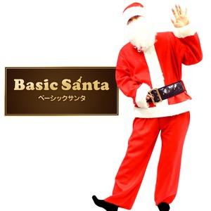 【訳あり】サンタ コスプレ メンズ 【Peach×Peach メンズ ベーシックサンタクロース 6点セット】 サンタ 衣装   - 拡大画像