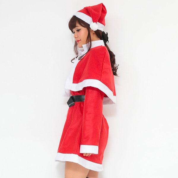 【クリスマスコスプレ 衣装】P×P レディースサンタクロース サンタコスプレ女性用 ワンピース&肩がけ