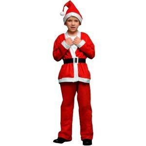 サンタ 衣装 キッズ 120 【 P×P ボーイズサンタクロース サンタコスチューム子供用 ジャケット&パンツ 5 - 7才向け 】 - 拡大画像