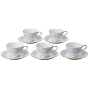 【訳あり・在庫処分】 ノリタケカンパニーリミテッド ティー・コーヒー碗皿 レースウッド 5客セット - 拡大画像