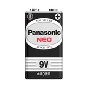 (業務用2セット)Panasonic パナソニック マンガン乾電池 ネオ黒 9V 6F22NB/1S(10個) - 拡大画像