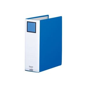 (業務用10セット) キングジム パイプ式ファイル/キングファイルG 【A4/タテ型】 とじ厚80mm 片開き 978GX ブルー(青)
