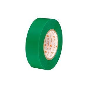 (業務用300セット) ヤマト ビニールテープ/粘着テープ 【19mm×10m/緑】 NO200-19 h01