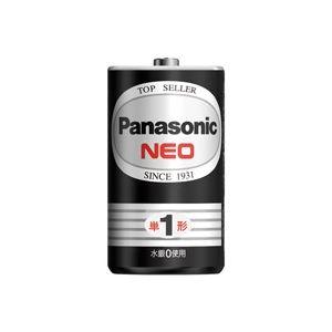 (業務用100セット) Panasonic パナソニック マンガン乾電池 ネオ黒 単1 R20PNB(2個) - 拡大画像