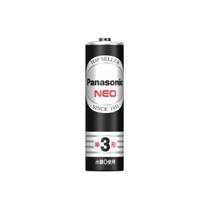 (業務用100セット) Panasonic パナソニック マンガン乾電池 ネオ黒 単3 R6PNB(4個) - 拡大画像