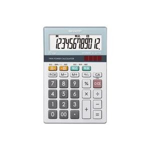 (業務用30セット) シャープ SHARP 環境配慮電卓 ミニナイスサイズ EL-M712K - 拡大画像