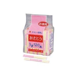 (業務用10セット)新三井製糖 スティックシュガー 3g×120本入 80408 - 拡大画像