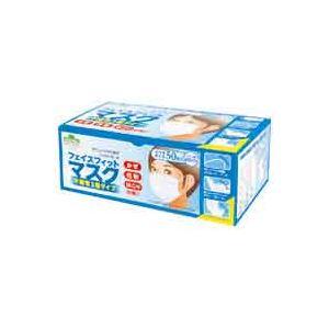 (業務用40セット)東京サラヤ フェイスフィットマスク ふつう 50枚 - 拡大画像