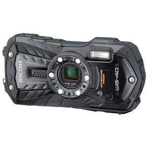 リコー デジタルカメラ WG-40BK ブラック - 拡大画像
