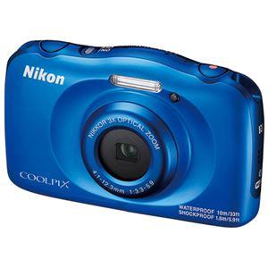 ニコン デジタルカメラ COOLPIX W100BL ブルー - 拡大画像