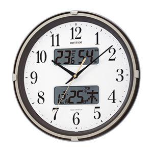 電波掛け時計茶メタリック 089-06B - 拡大画像