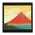 漆芸マウスパッド赤富士(黒) 294-01A