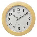 シチズン自動点灯掛時計薄茶091-05A