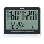 デジタル温湿度計ブラック104-06A