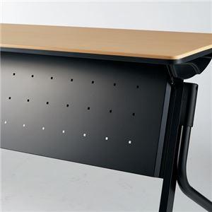 【幕板のみ】プラス 会議テーブル リネロ2 幕板 ブラック LD-M1500 BK