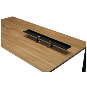 プラス 増連型テーブル用トップラック MR-R12 BK