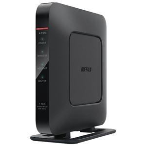 (まとめ)BUFFALO 無線LAN エアステーションWSR1166DHP3BK【×5セット】 - 拡大画像