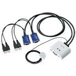 (まとめ)エレコム USBパソコン切替器KVM-KUSN【×5セット】