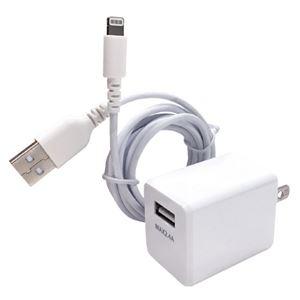 (まとめ)オズマ AC-USB充電器IH-ACU24L150W ホワイト【×5セット】