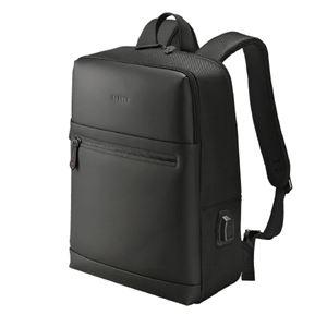 ウノフク USBボート付バッグパック 13-6074 黒 - 拡大画像