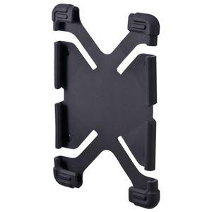 (まとめ)サンワサプライ 耐衝撃シリコンケース PDA-TABH4BK【×5セット】 - 拡大画像