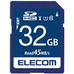 (まとめ)エレコム SDHCメモリカード 32GB MF-FS032GU11R【×2セット】
