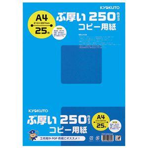 (まとめ)キョクトウ・アソシエイツ ぶ厚いコピー用紙 PPC250A4【×10セット】