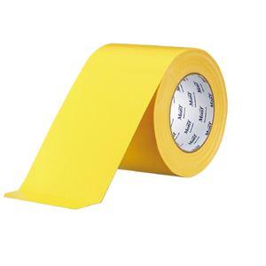 (まとめ)古藤工業 工事用布粘着テープNo.8002 黄 100mm×25m【×5セット】