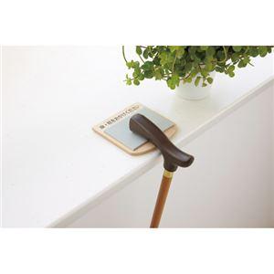 (まとめ)アスト 木製傘杖置きストッパー ナチュラル 741854【×5セット】