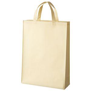 (まとめ)スマートバリュー 不織布手提げバッグ中10枚ベージュB451J-BE【×5セット】