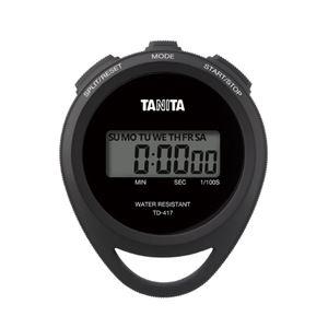 (まとめ)タニタ ストップウオッチ TD-417-BK【×5セット】 - 拡大画像