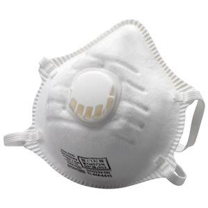 (まとめ)ミドリ安全 排気弁付使い捨て防じんマスクSH7022V 10枚【×10セット】