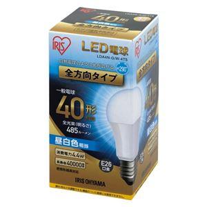 (まとめ)アイリスオーヤマ LED電球60W E26 全方向 昼白色 4個セット【×5セット】